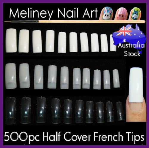 half cover french nail tips