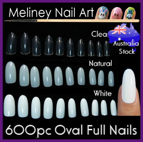 Oval Full Cover Nails