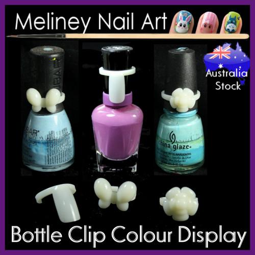 50pc nail polish display clips