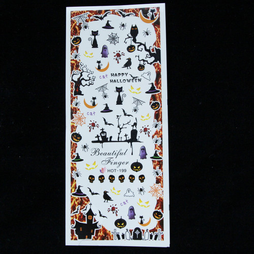 disney halloween nail sticker