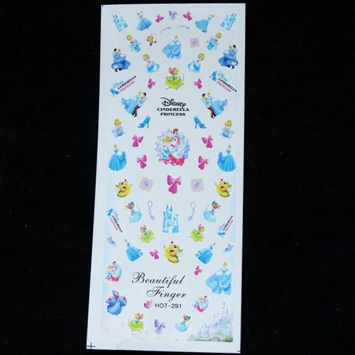 Disney Cinderella water decal nail sticker