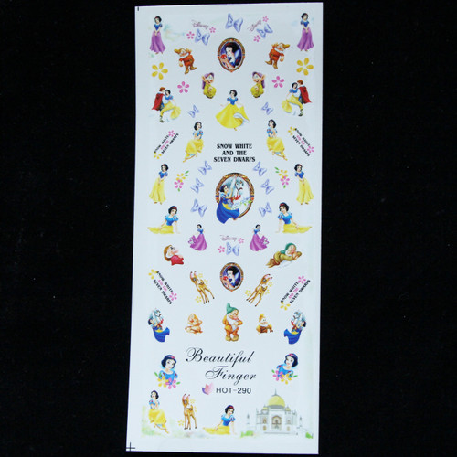 Disney snow white water decal nail sticker
