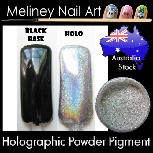 holographic powder pigments for nail art