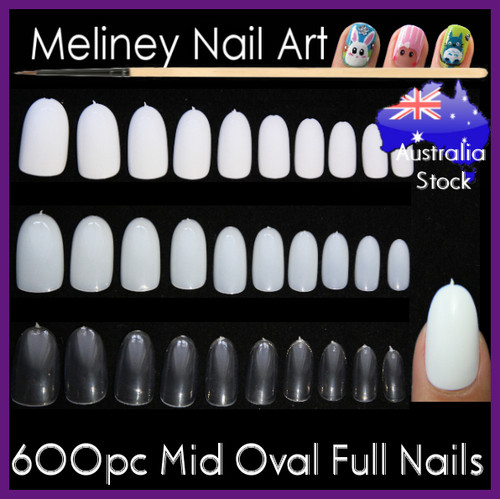 Mid Oval Full Cover Nails