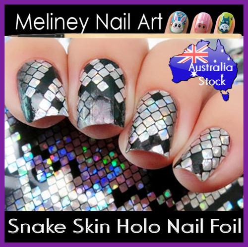 snake skin nail foil