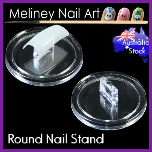 clear nail stand display