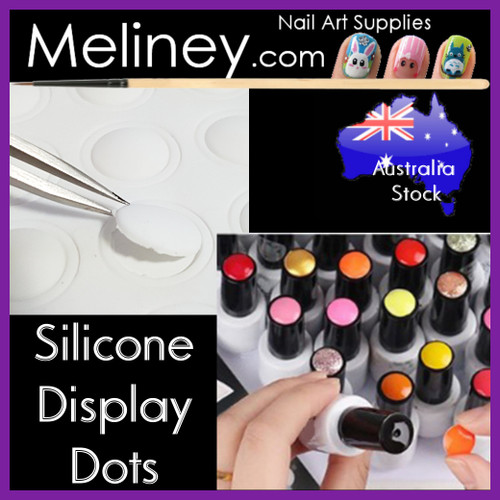 Silicone display dots