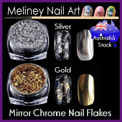 Silver Gold chrome mirror flakes