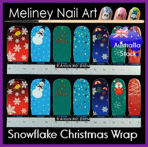 Christmas nail wrap