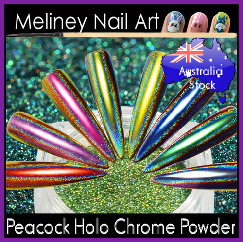 Peacock Holographic Chrome Powder