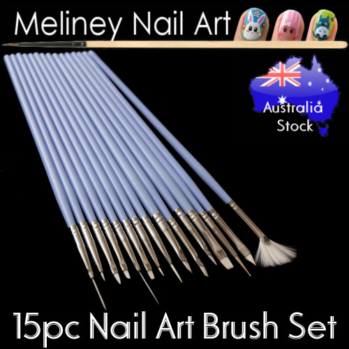 15pc Nail Art Brush Set