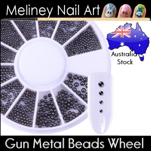 Gun Metal beads Wheel for nail art