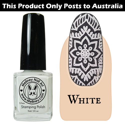 Meliney Nail Art Stamping Polish - White 9ml