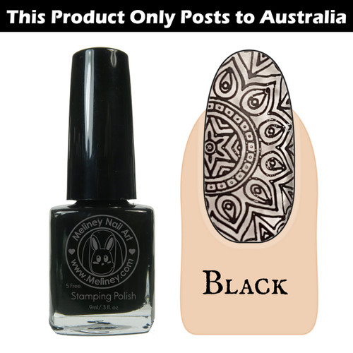 Meliney Nail Art Stamping Polish 9 ml Black