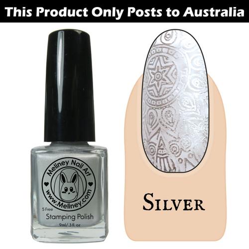 Meliney Nail Art Stamping Polish 9 ml Silver