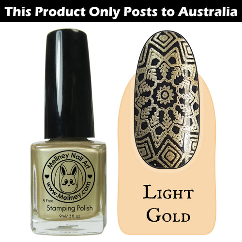 Meliney Nail Art Stamping Polish 9ml Light Gold