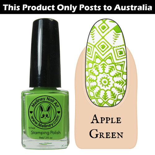 Meliney Nail Art Stamping Nail Polish 9ml Apple Green