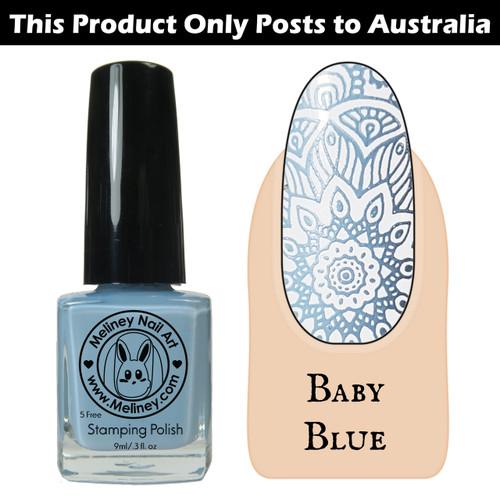 Meliney Nail Art Stamping Polish 9ml Baby Blue