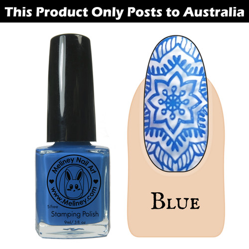 Meliney Nail Art Stamping Polish 9ml Blue