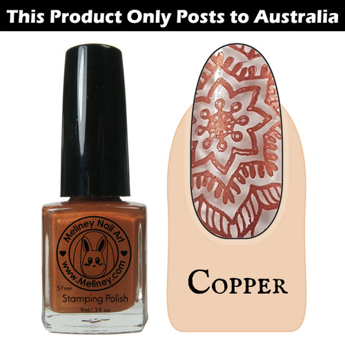 Meliney Nail Art Stamping Polish 9ml Copper