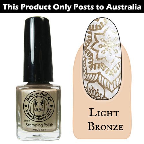 Meliney Nail Art Stamping Polish 9ml Light Bronze