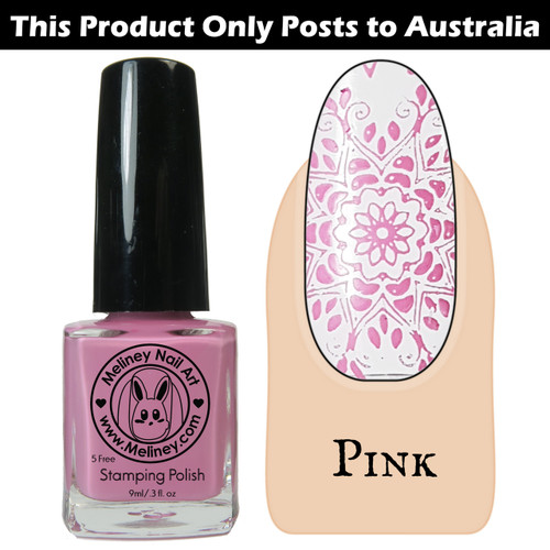 Meliney Nail Art Stamping Polish 9ml Pink