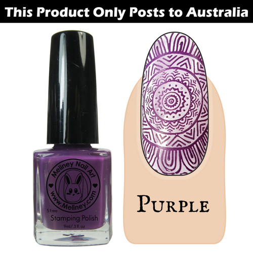 Meliney Nail Art Stamping Polish 9ml Purple