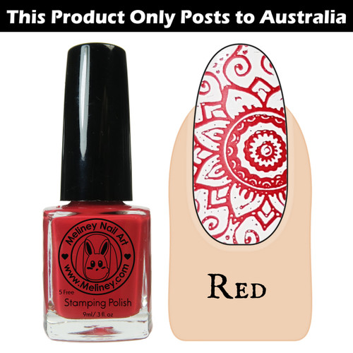 Meliney Nail Art Stamping Polish 9ml Red