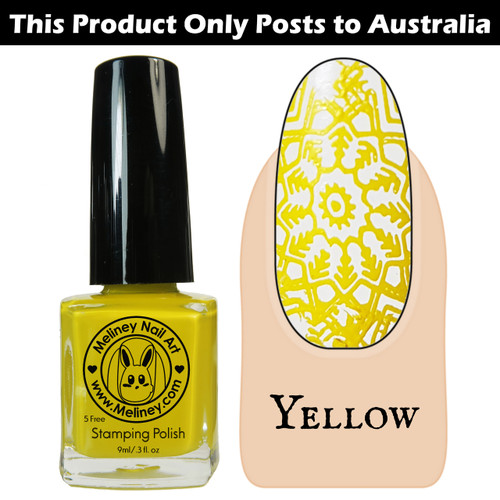 Meliney Nail Art Stamping Polish 9ml Yellow