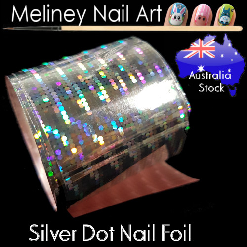 Silver Dot Nail Art Transfer Foil
