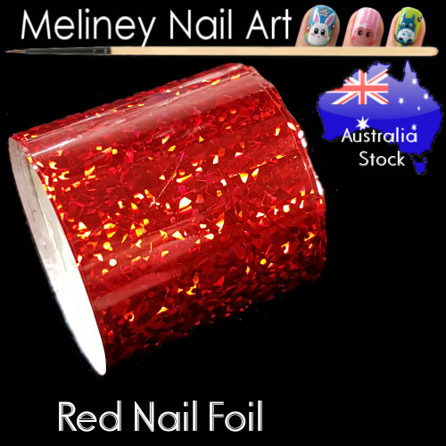 Red Nail Art Transfer Foil