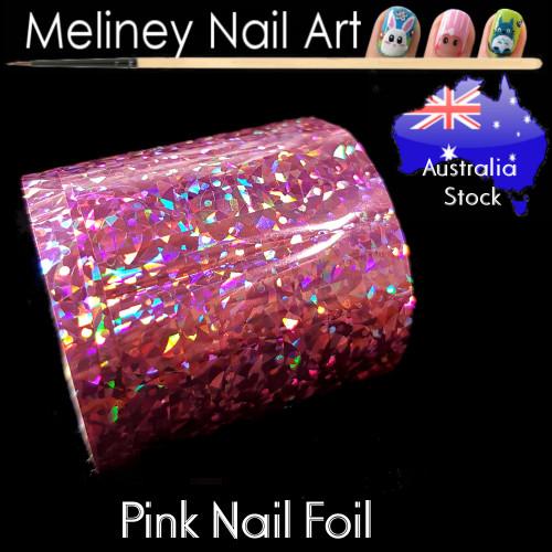 Pink Nail Art Transfer Foil