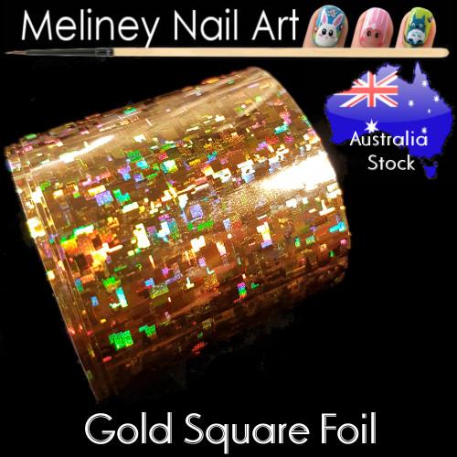 Gold Square Nail Art Transfer Foil