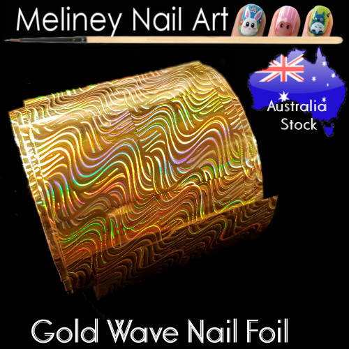 Gold Wave Nail Art Transfer Foil