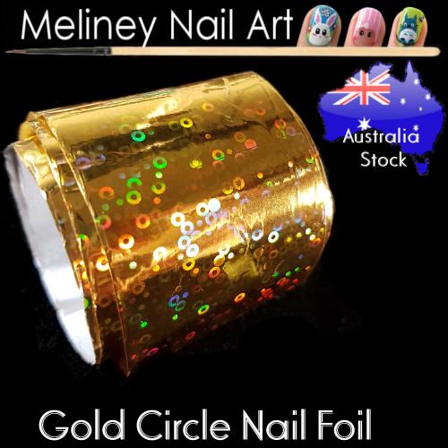 Gold Circle Nail Art Transfer Foil