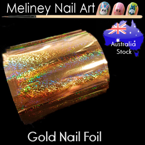 Gold Nail Art Transfer Foil
