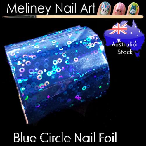 Blue Circle Nail Art Transfer Foil