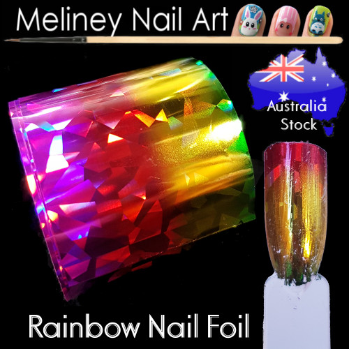 Rainbow Nail Art Transfer Foil