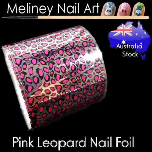 Pink Leopard Nail Art Transfer Foil