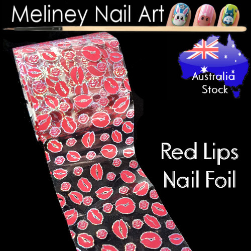 Red Lips Nail Art Transfer Foil
