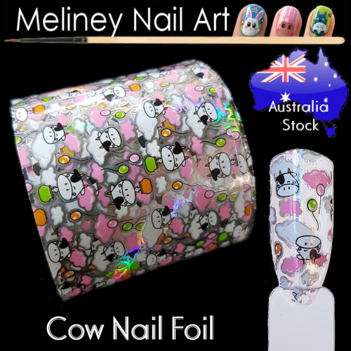 Cow Nail Art Transfer Foil