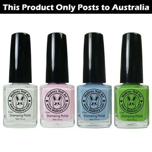 Meliney Nail Art Stamping Polish - Fairy Set 4pc
