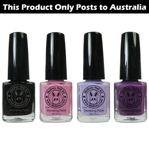 Meliney Nail Art Stamping Polish - Lolita Set 4pc