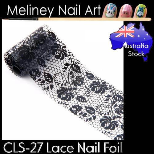 Black Lace Nail Transfer Foil - CLS27