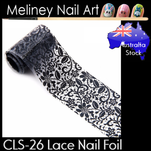 Black Lace Nail Transfer Foil - CLS26