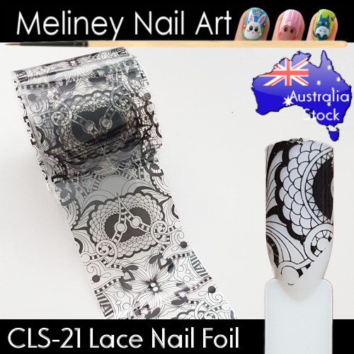 Black Lace Nail Transfer Foil - CLS21