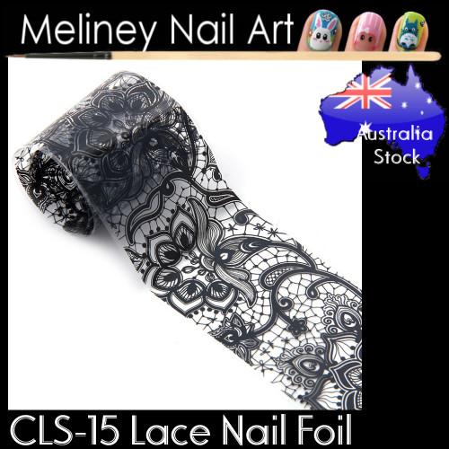 Black Lace Nail Transfer Foil - CLS15