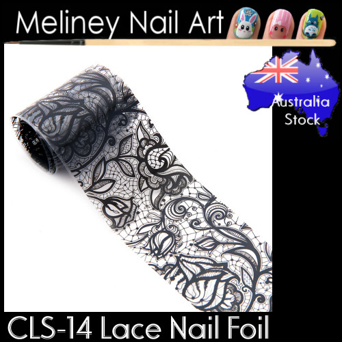 Black Lace Nail Transfer Foil - CLS14
