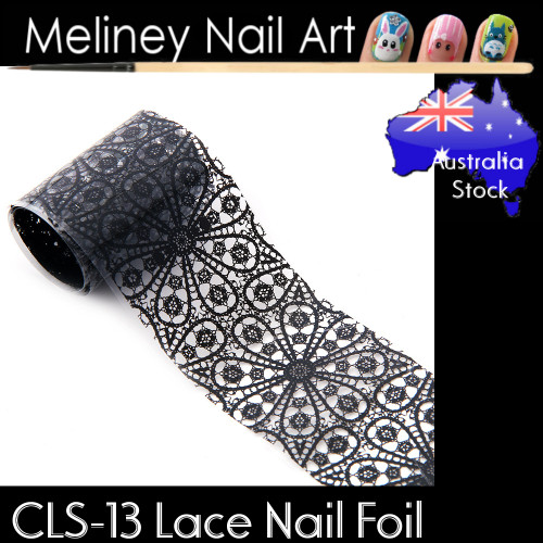 Black Lace Nail Transfer Foil - CLS13