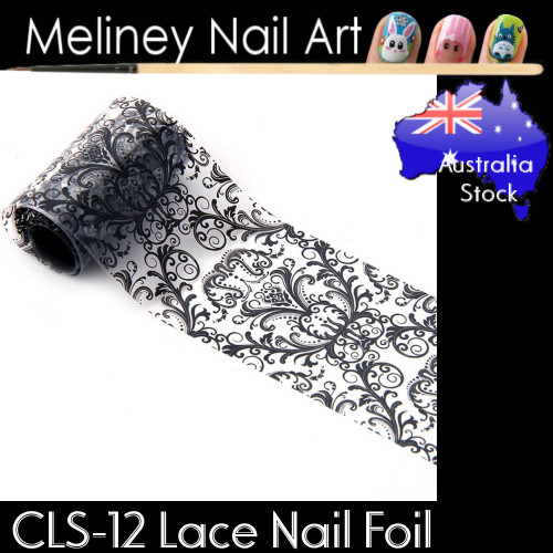 Black Lace Nail Transfer Foil - CLS12